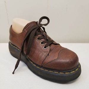 Doc Dr Marten 8 Shoes Oxford Lace Up Brown Leather